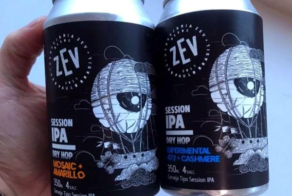 Cervejaria Zev propõe experiência sensorial com Session IPA