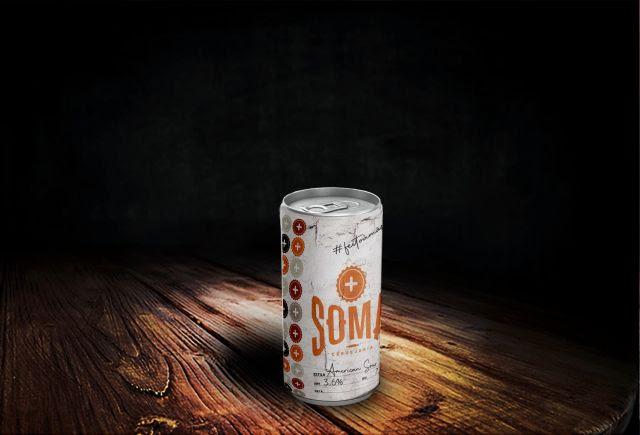 Crowler de 1 litro da Soma Cervejaria, novo brewpub de Moema, na Zona Sul de São Paulo