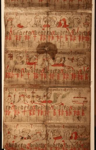 Runic calendar from 1432