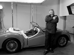 Dean's 1950s moment with the beautiful classic car