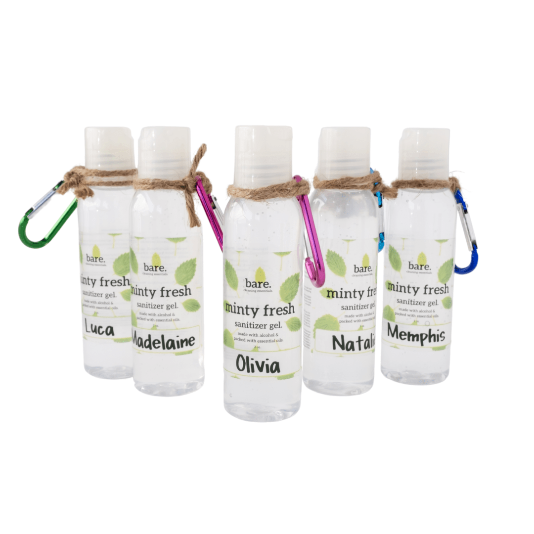 bare cleaning essentials - Hand Sanitizer Gel Minty Fresh 2oz - 5 pack - clean with bare