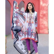 3 PC Digital Printed Embroidered PIMA Lawn