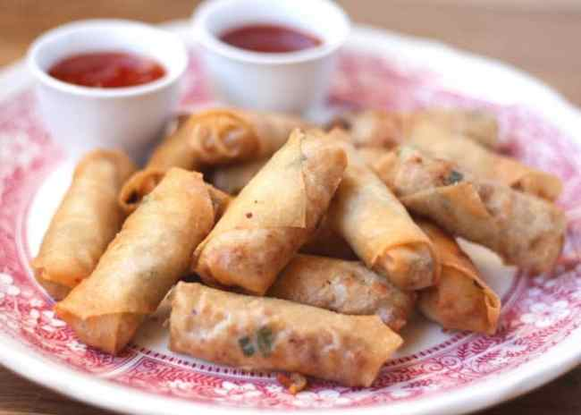 How To Make Filipino Lumpia - get the recipe at barefeetinthekitchen.com