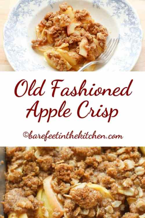 Old Fashioned Apple Crisp (traditional and gluten free recipes included)