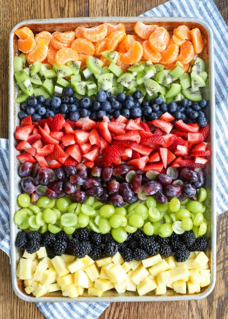 — Rainbow Fruit Salad
