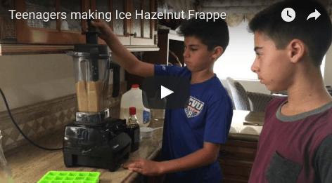 Teens making frappe image