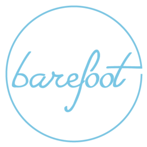barefoot athleisure logo dark background