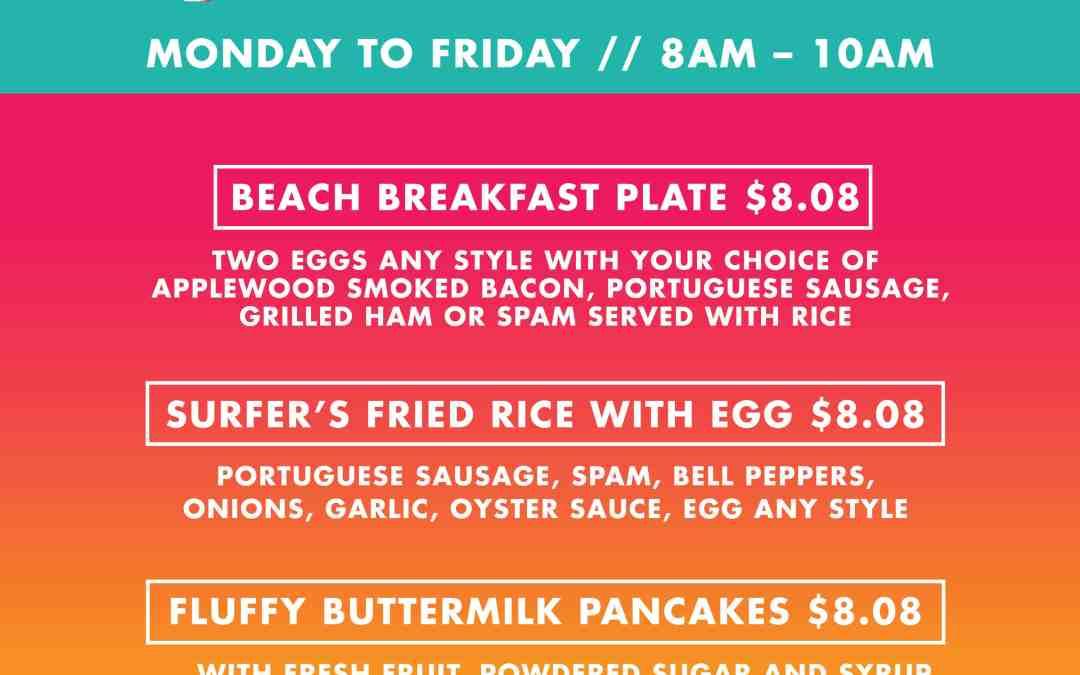 $8.08 Breakfast Specials // Monday 6/29