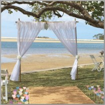 Wedding- lace arbour - Cotton Tree Park