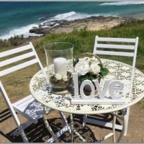 Round wedding signing table.