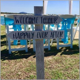 Wedding sign - Welcome to our happy ever after.