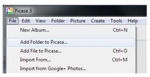 Add a Folder to Picasa