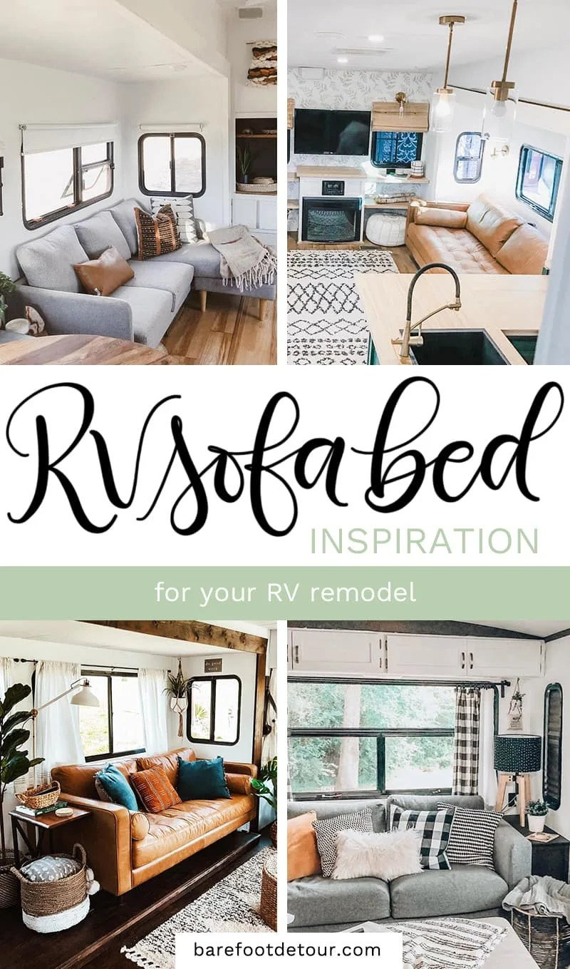 rv sofa bed upgrade ideas for your