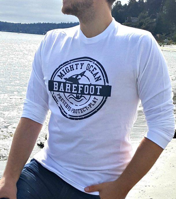 Mighty Ocean Unisex Organic Cotton Long Sleeve Tee