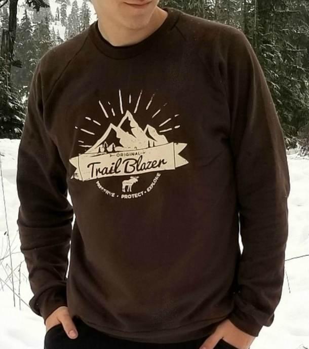Unisex Original Trailblazer Crew Neck Sweatshirt Bark