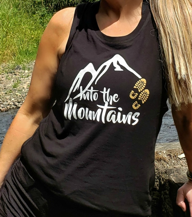 Into the Mountains Women's Muscle Tee