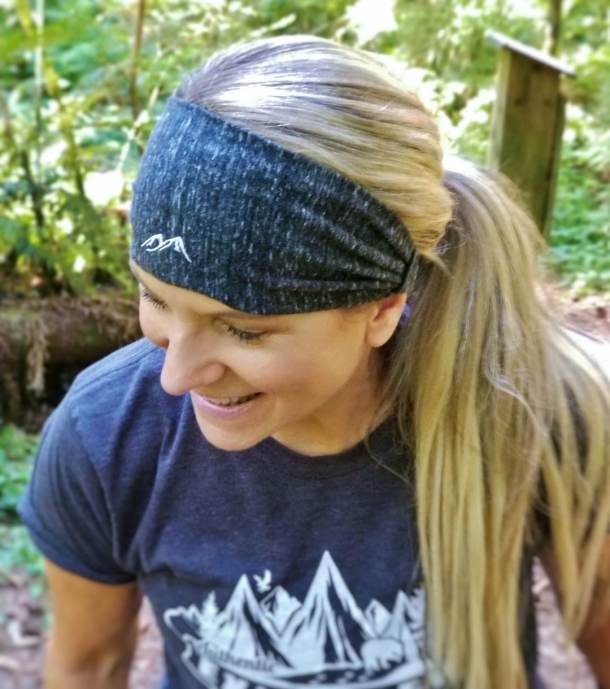 Into the Mountains Headband Charcoal 2