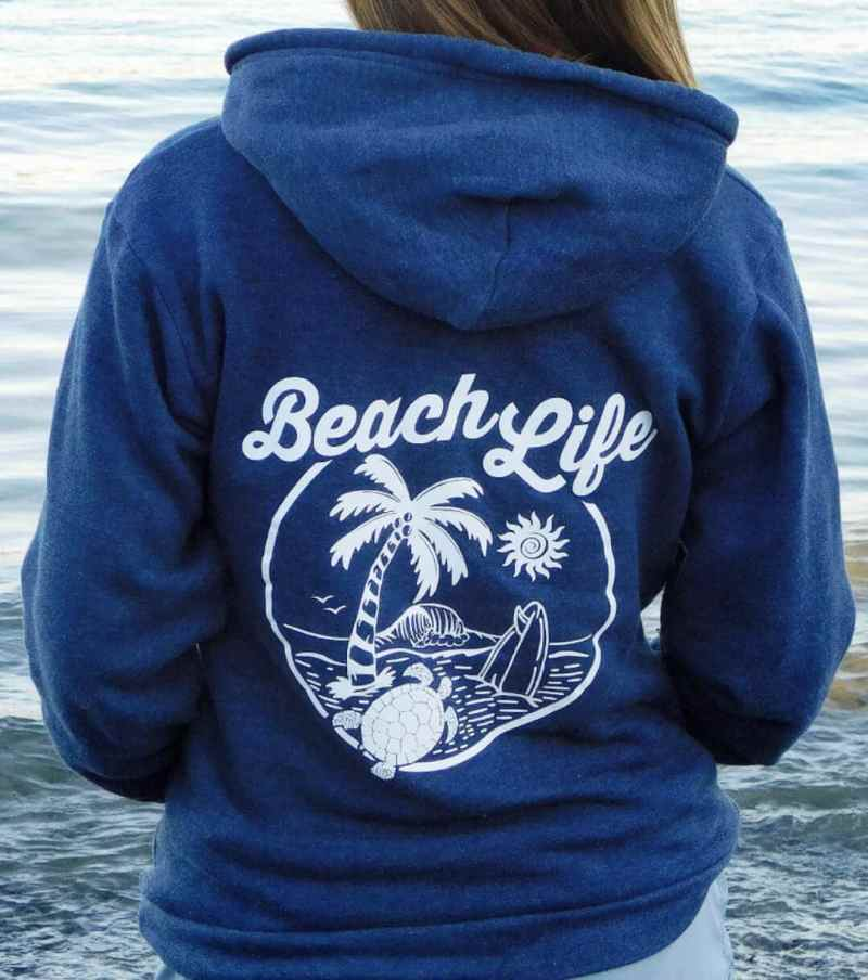 Beach Life Hoodie Shop Page