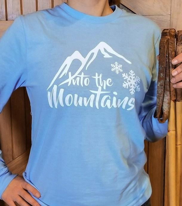 Into the Mountains Snowflake Tee
