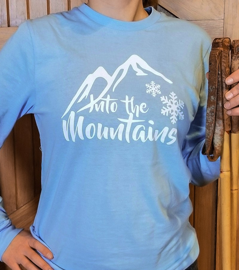 Into the Mountains Snowflake Tee