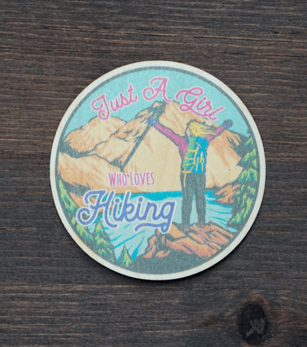 Girl Who Loves Hiking Sticker Product Photo