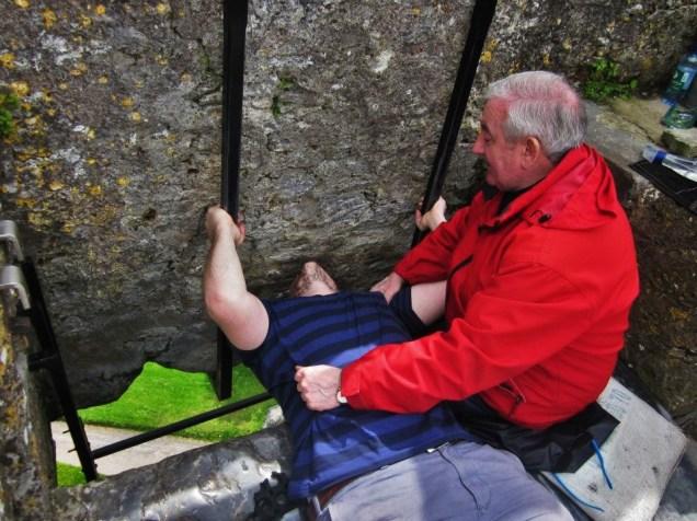 Me kissing the Blarney Stone