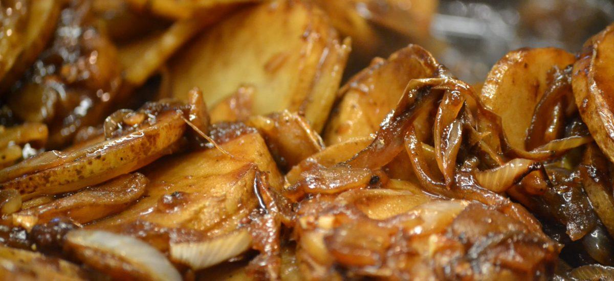 Gordon's Hawaiian Potatoes and Huli Huli Porkchops