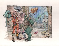 (Barefoot) Justine Mara Andersen: illustration for Lucasfilm
