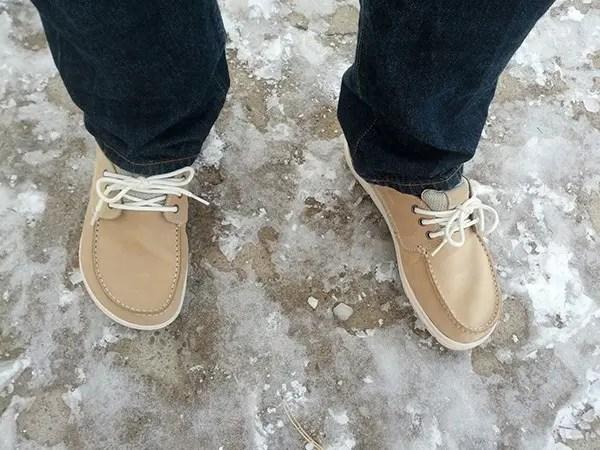 Good grip on icy sidewalks