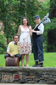Christopher Berghoff as Hortensio, Brooke M. Haney as Celia and Courtney Moors as Rosalind