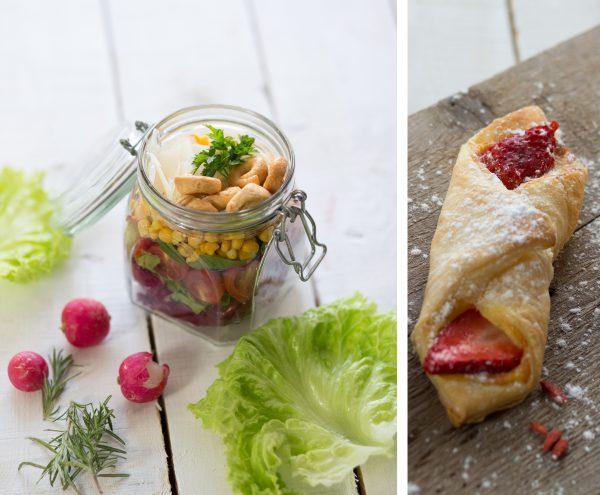 Spomladanska solata - Sadni žepki z jagodami in Mascaropne Zgodba Barei,...