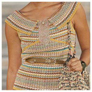 Inspirasjon fra Chanel 2017 strikkedesign barelekkert
