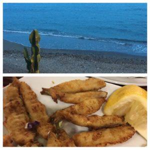 Utsikt fra en strandrestaurant