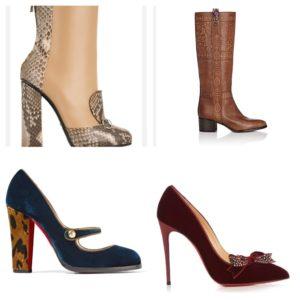 Boots og sko i velur.