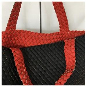 Shoppingveske sort/rød