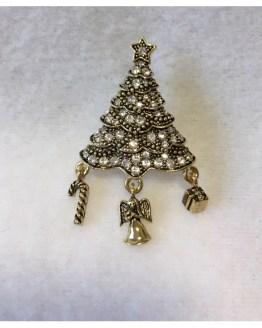 Julebrosje gylden med stener