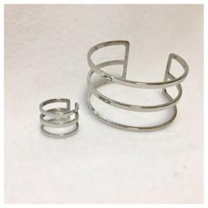 Armring og ring i sølv, Cesena