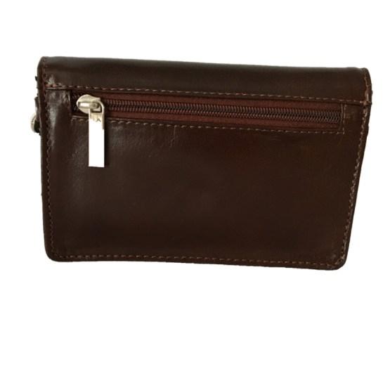 Liten skulderveske/ lommebok brun, bak