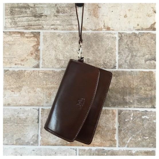 Liten skulderveske/ lommebok brun