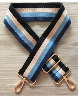 Stripete blå