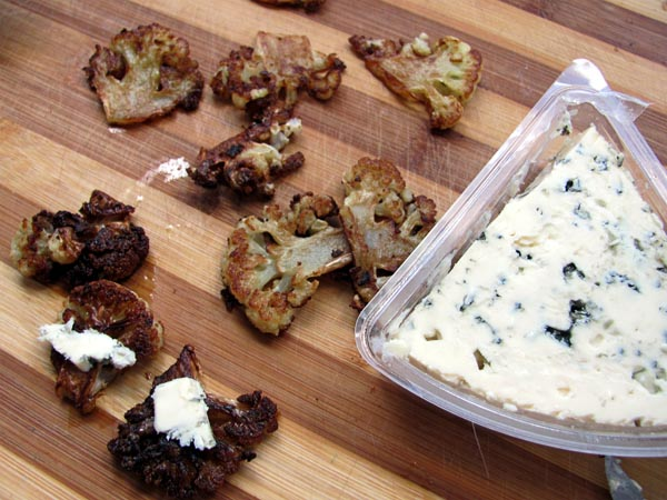 blue cheese and caramelized cauliflower