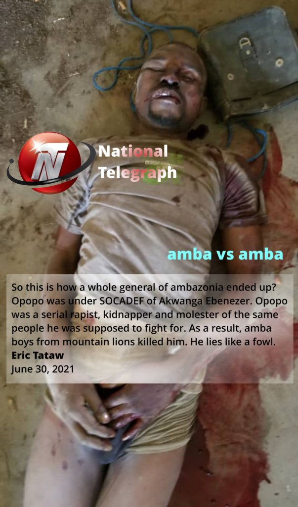 Eric Tataw - National telegraph on Opopo after he was killed by amba - the dead body