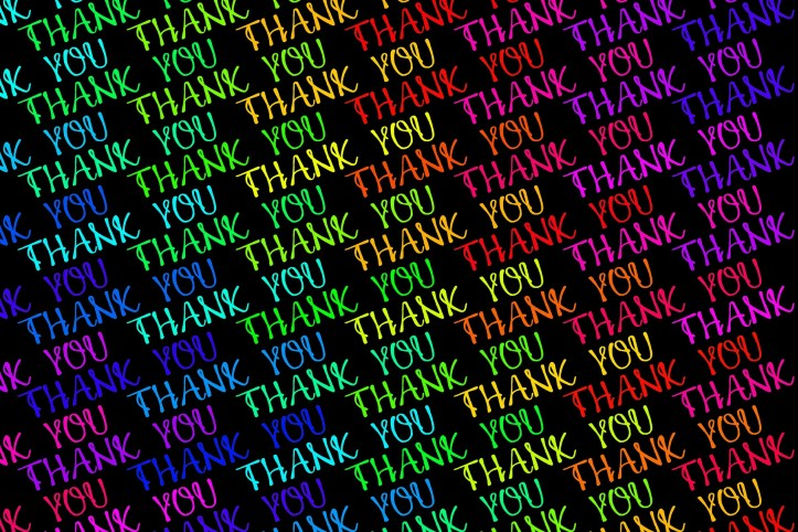 Thank you multi colors