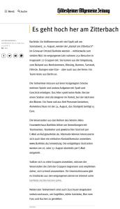 Ankündigung der Hildesheimer Allgemeine Zeitung zum 7. Kampf am Zitterbach