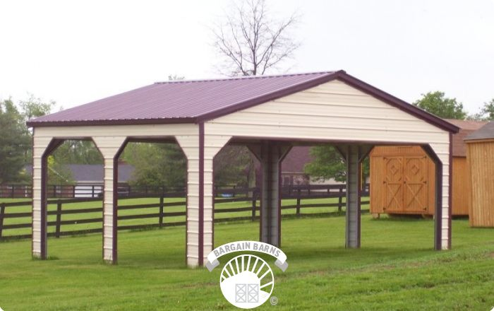 Double Carports Size Style Amp Prices Bargain Barns USA