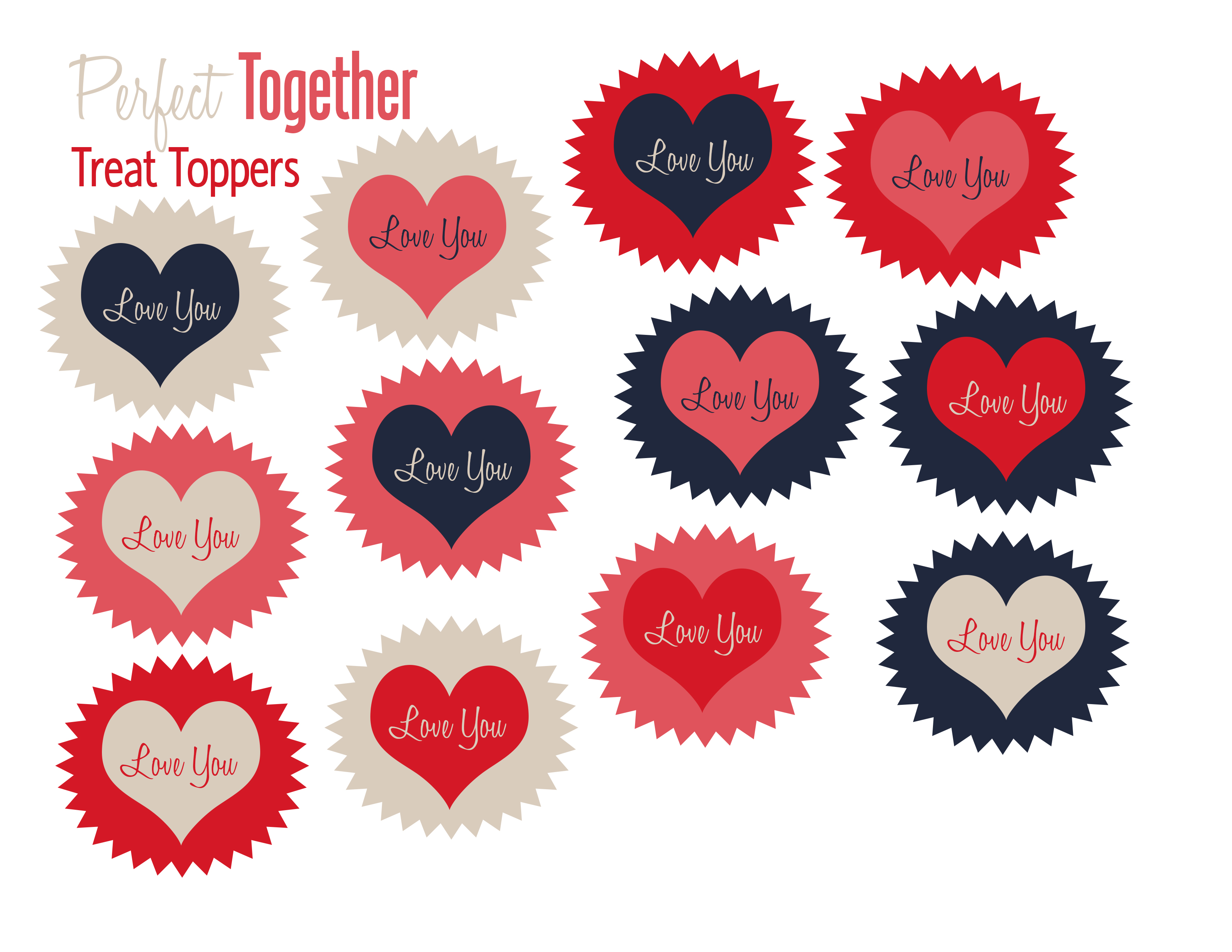 Free Valentine S Day Treat Toppers Printable