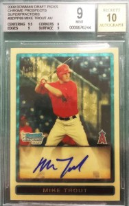 most valuable baseball cards 2000s trout