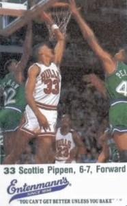 Scottie Pippen Rookie Card: 1987-1988 Bulls Entenmann's