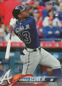 Ronald Acuna Bat Down Topps Series 2