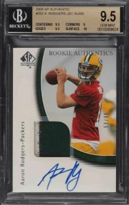 most valuable aaron rodgers cards